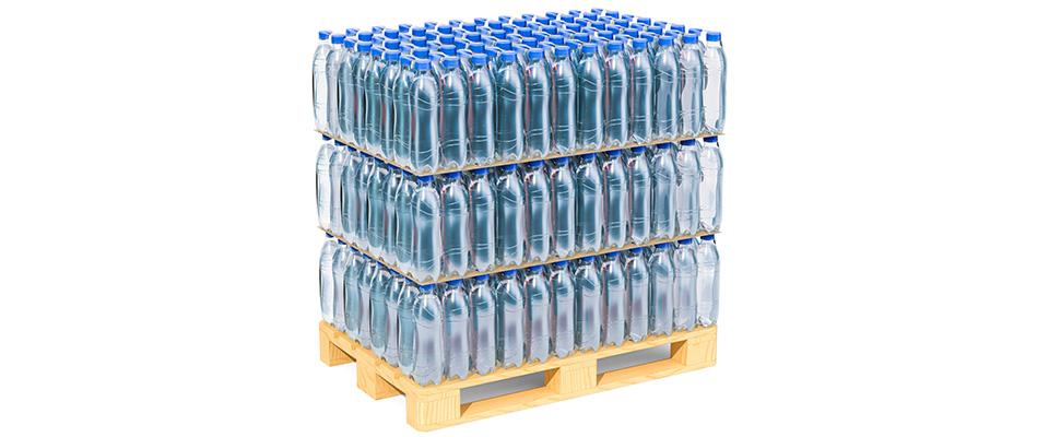livraison de palette d'eau aux entreprises